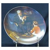 "Knowles Rockwell Plate Titled ""The Tycoon"""