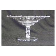 Clear Pressed Glass Cheese Stand