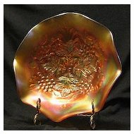 Northwood Carnival Glass Two Pattern Bowl