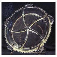 "Imperial Glass ""Candlewick"" Five Section Relish Dish"