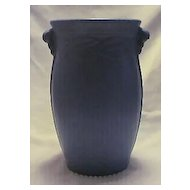 Large Light Blue Pottery Vase Impressed 534