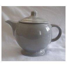 Homer Laughlin fiesta Gray Teapot