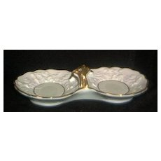 Two Section Porcelain Candy Dish-Made by Enesco
