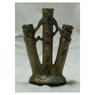 Weller Woodcraft Ware Triple Bud Vase