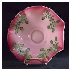 Webb Hand Enameled Cased Glass Bride's Bowl