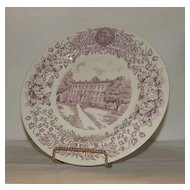 Wedgwood Plate Depicting Richardson Hall