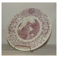 Wedgwood Collector PLate Depicting the Men's Residence