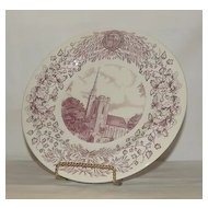 Wedgwood Collector Plate Depicting Gunnison Chapel