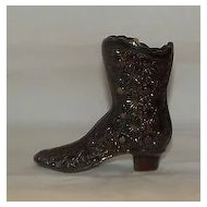 Fenton Daisy And Button Pattern Boot