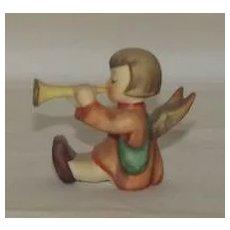 Little Girl Angel Playing A Trumpet Hummel Mini Candleholder