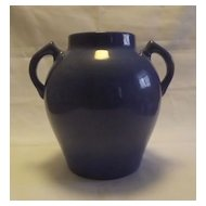 Two Handled Mottled Blue Urn Shaped Vase
