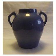 Two Handled Mottled Blue Urn Shaped Vase