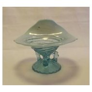 Wide Upturned Rim Light Blue Opalescent vase