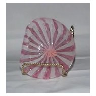 "Murano Glass ""Latticino"" Pink Bowl"