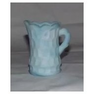 Unmarked Slag Glass Thumbprint Creamer