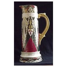 Decorated Tankard Shaped Pitcher From Austria