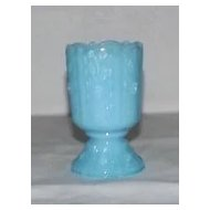 Fenton Delphite Blue Paneled Daisy Toothpick Holder