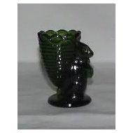 Emerald Green Rabbit With Basket Toothpick Holder