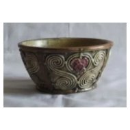 Unmarked Art Pottery Flare Sided Bowl