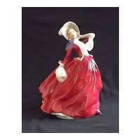 "Royal Doulton Figurine Titled ""Autumn Breezes"" HN1934"