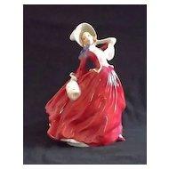 "Royal Doulton Figurine Titled ""Autumn Breezes"" HN1934"