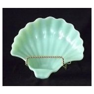 Unmarked Fire-King Jadeite Shell Shaped Dish