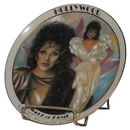 Joan Collins Hollywood Walk Of Fame Collector Plate