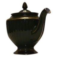 "Hall ""Los Angeles"" Shape Green Teapot"