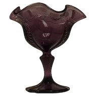 Fenton Amethyst Colored Compote