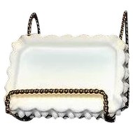 Fenton Milk Glass Hobnail Rectangular Ashtray