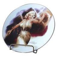 "Marilyn Monroe Plate Titled ""Rising Star"""