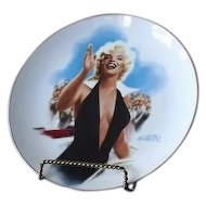 "Marilyn Monroe Collector Plate Titled ""Stopping Traffic"""