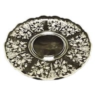 "Cambridge ""Rose Point"" Large Torte Plate"