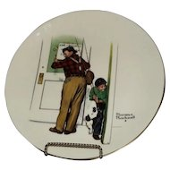 Norman Rockwell Plate From Gorham