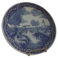 Delft Charger With A Canal Motif Decoration