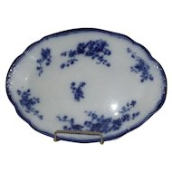 Flow Blue Platter With English Registry Marks