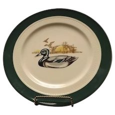 Syracuse China Restaurant Ware Duck Motif Dinner Plate