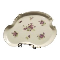 Large Violet Decorated Dresser Tray