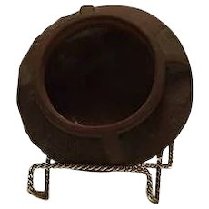 """Peter's & Reed """"Moss Aztec"""" Shallow Four Handled Bowl"""