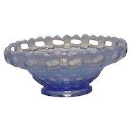 Fenton Blue Opalescent Mayo Bowl