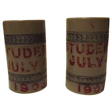 Pair Of Salt Glazed Mugs From July 4Th 1905