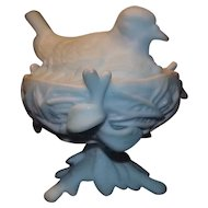 Westmoreland Glass Bird On A Nest Candy Dish