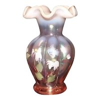 Fenton Hand Painted Artist Signed Vase