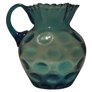 Light Blue Pitcher With Attached Handle