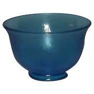 Fenton Celeste Blue Small Footed Bowl