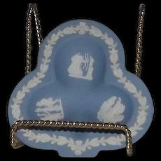 """Wedgwood Jasperware Dish In The Shape Of A """"Club"""" Card Suit"""