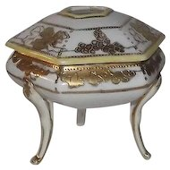 Noritake Grape and Leaf Decorated Three Footed Hair Receiver
