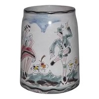 Hand Painted Beer Stein From The American Zone Of Germany