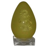 Pilgrim Sunflower Motif Sculptured Egg With Stand