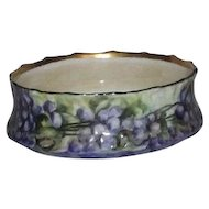 Limoges Hand Painted Violet Decorated Bowl